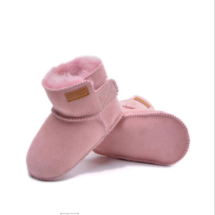 Lovely Winter Warm sheepskin lambskin Shoes Infant Toddler Baby Boys Girls Boots booties Soft Newborn Bebe First