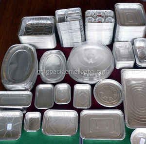 Heavy Duty Oval Aluminium Foil Containers For Food Packaging