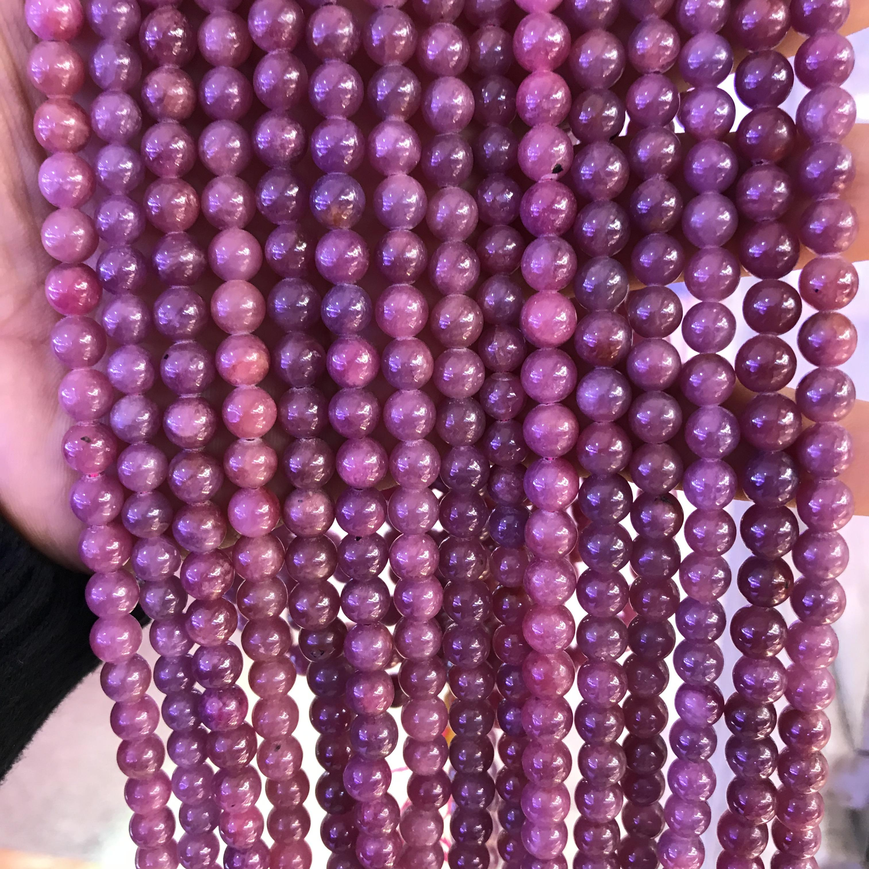 6mm round natural rare loose ruby gemstone beads