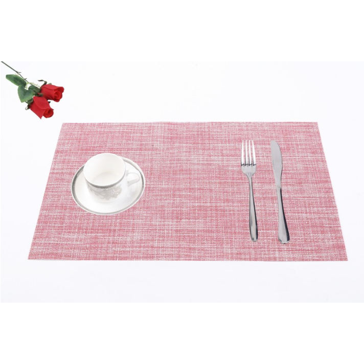 Christmas home decoration polyester custom table placemat
