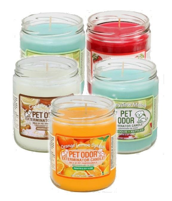 Aromatherapy Deodorizing Soy Candle In Glass Container as Pet Odor Eliminator Candles