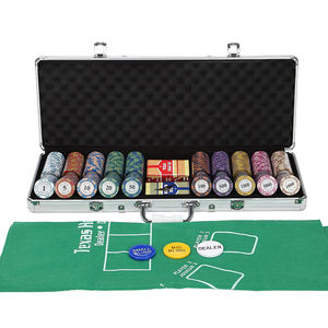 500pcs 11.5g dice poker chip set/14g clay poker chip set