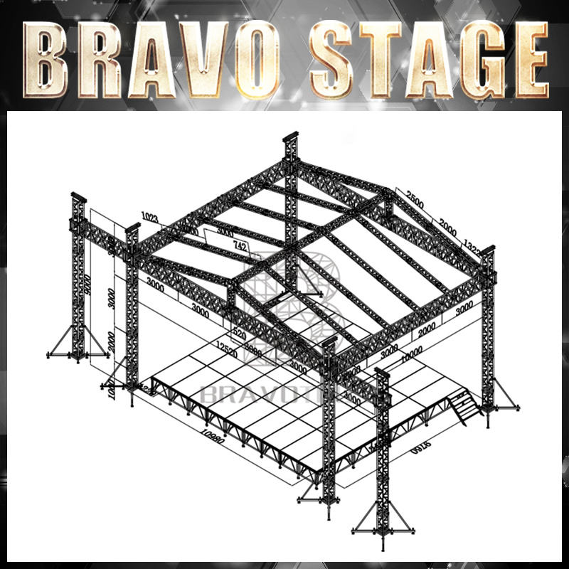 Bravo Stage Truss Do Telhado