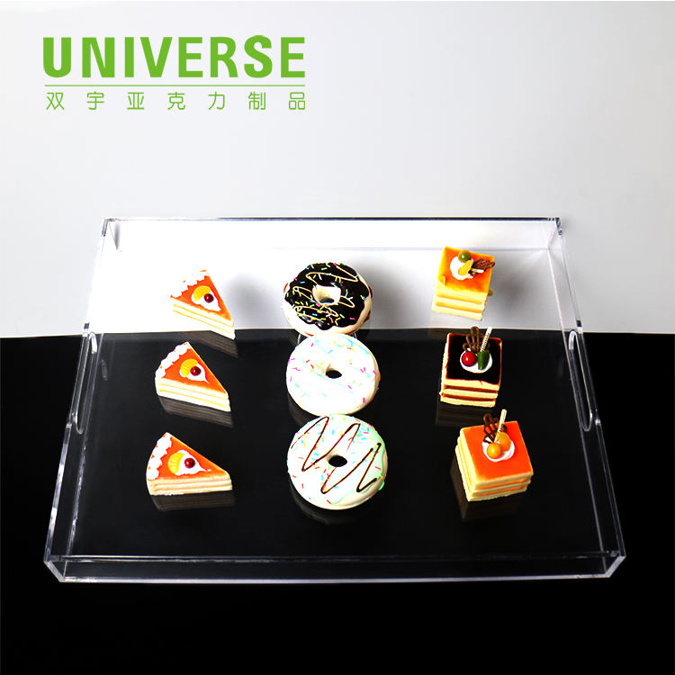 UNIVERSE custom newspaper clear sunglasses chocolate macaron bread acrylic ice cream cone display rack