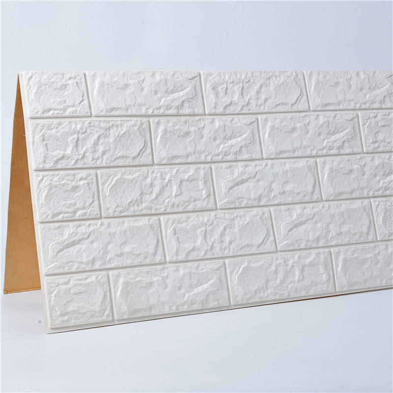 New products hot selling 3D Mural PE foam white brick wallpaper