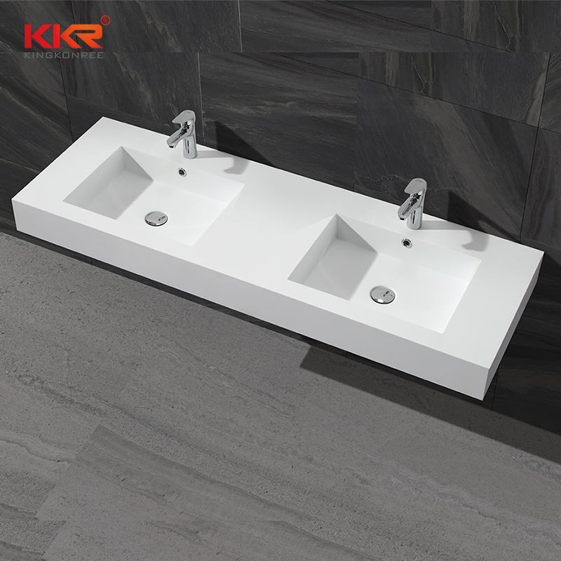 Wholesale 100% pure acrylic toilet wall hung solid surface artificial stone bathroom basin