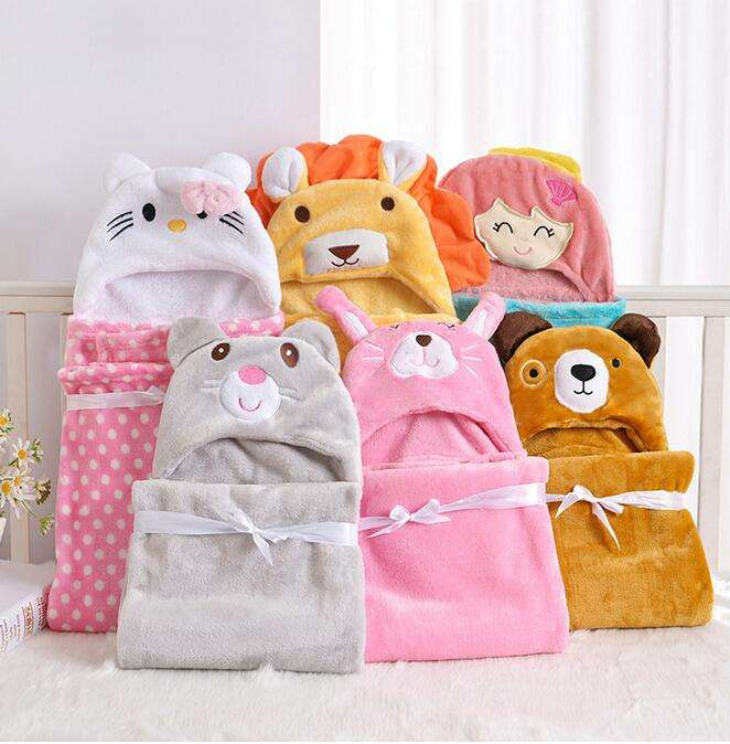 china supplier wholesale 100% cotton baby bath hooded towel