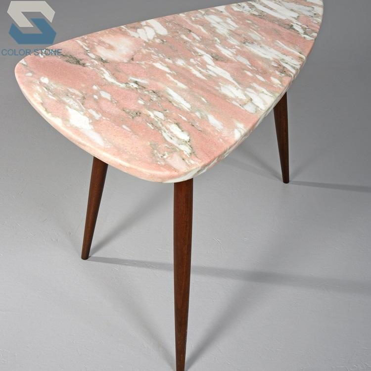 Norway Pink marble table top dining table pink marble countertop for kitchen and bathroom vanity top