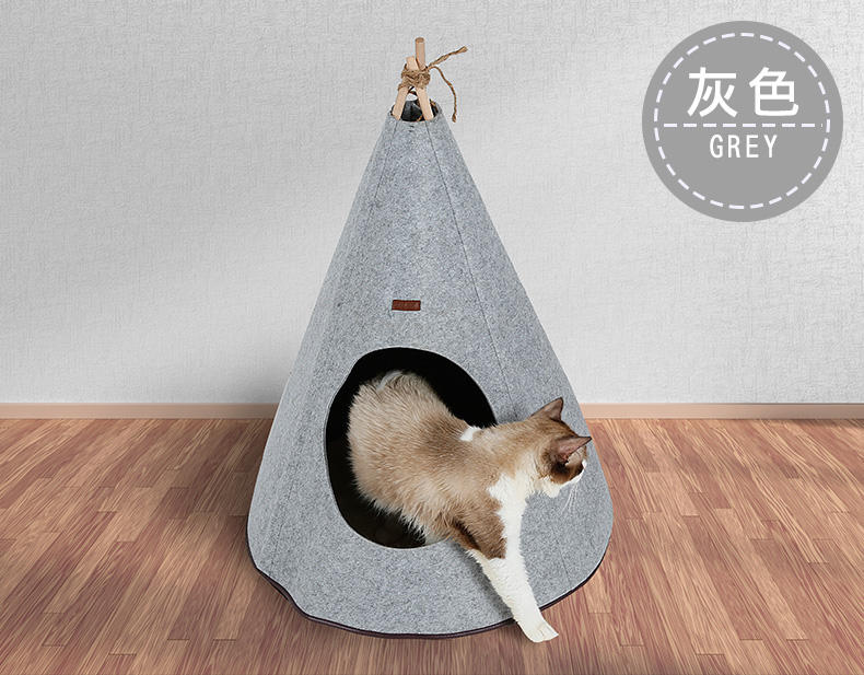 Foldable Nature Pet Lgloo Dog Cat Cave House Pet teepee Tent