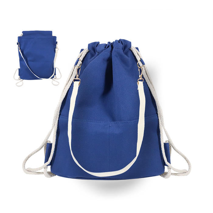 Durable Canvas material drawstring backpack bag shoes gym shopping use Guangzhou Supplier
