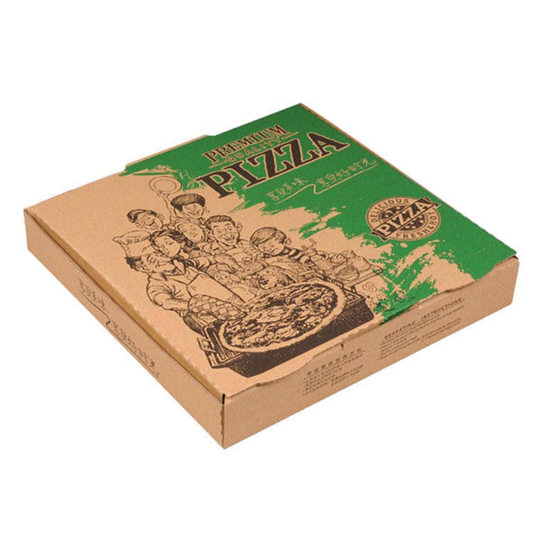 SENCAI hot sale custom printed biodegradable 16 inch pizza packaging corrugated paper box