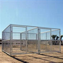 China wholesale Large outdoor crate large dog cages metal kennels