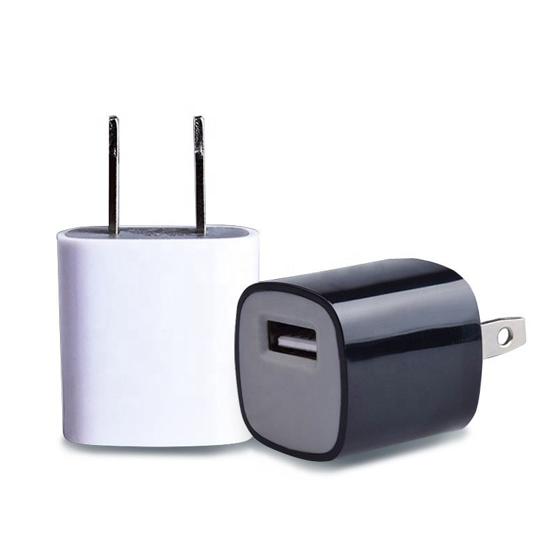 Portable mobile cheapest mini tube single usb smallest US plug home 5W wall charger travel phone adapter 5v 1a usb charger