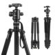SHOOT Aluminum Alloy 4-Sections Camera Tripod With 360 degree Panorama Ball Head