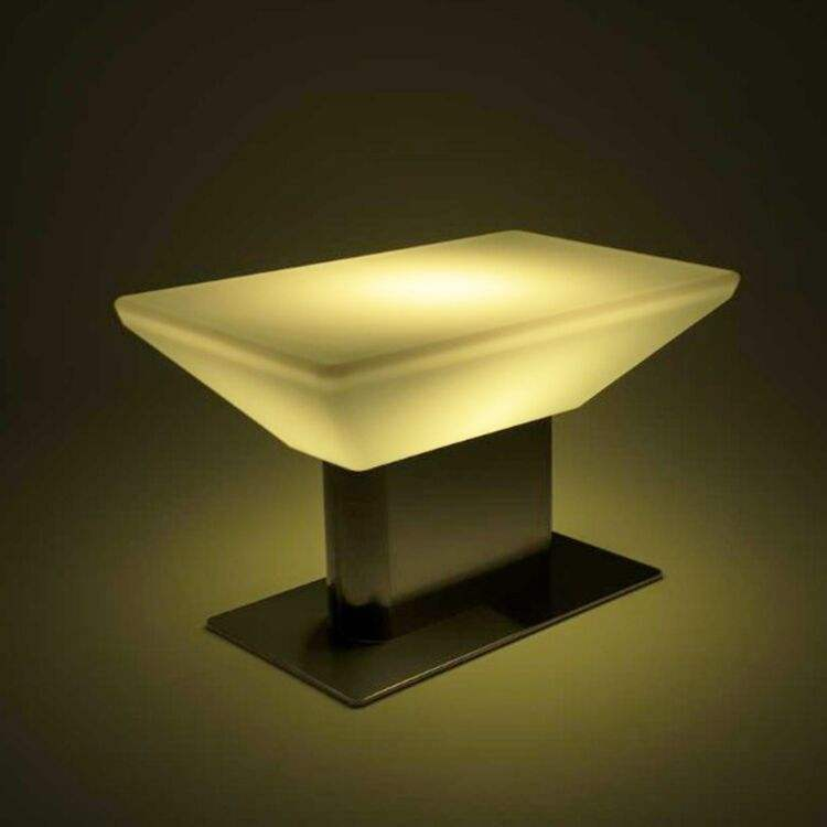 Modern LED Glow Coffee Table with Multicolor Illumination