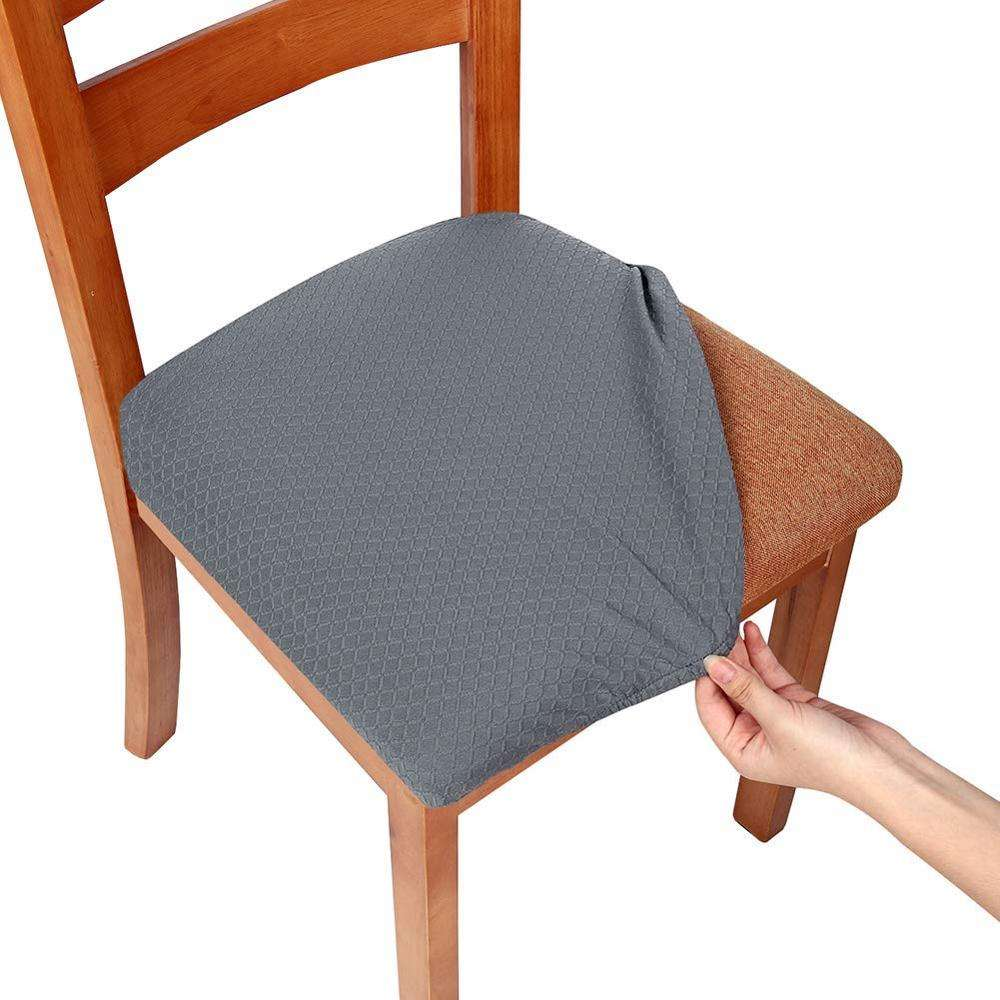 Stretch Spandex Jacquard Dining Room Seat Chair Covers
