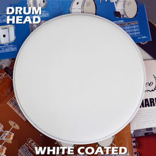 "White Coated 14"" Rough 0.25 mm Snare Top Drum skin head"