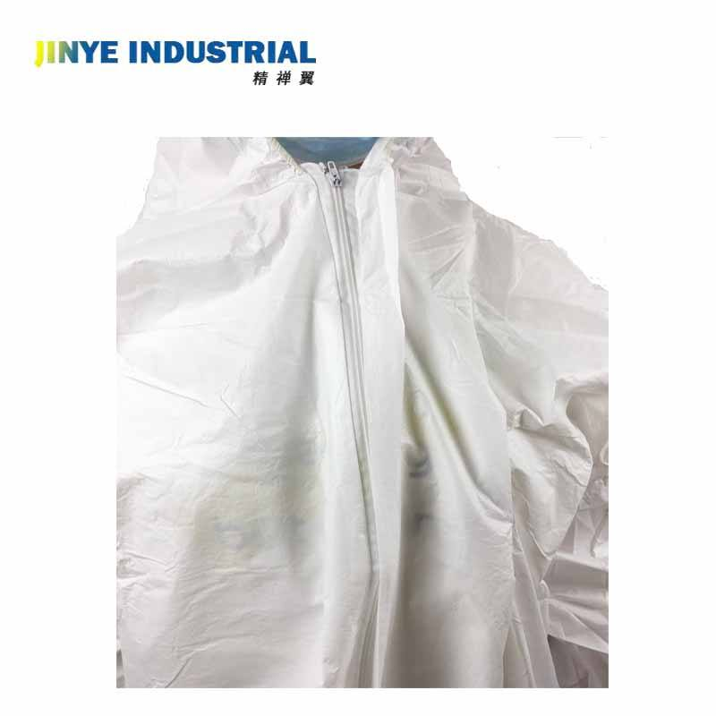 Disposable water dust resistant protective clothing polypropylene microporous coverall