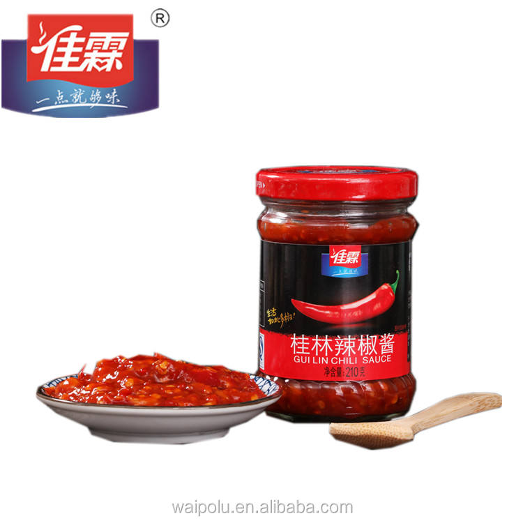 210G bottle package Jialin brands Guilin Instant Dishes red chili sauce with noodles mexican hot sauce