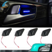 Car Interior ambient light cup holder light led car door handle lights for Hyundai Sonata LF 9