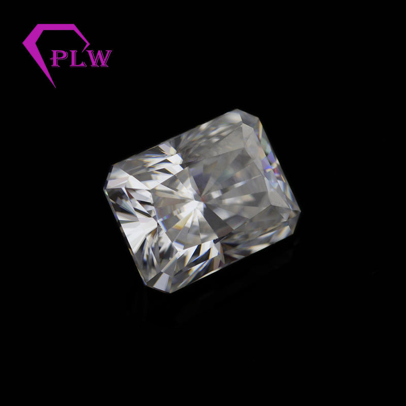 factory directly 8x10mm def colorless 4 carat radiant cut moissanite lab created