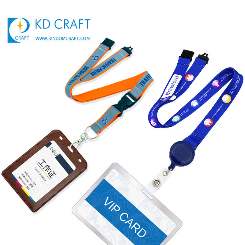 Wholesale custom high end id card neck strap silk screen printed car lanyard for car exhibition staff