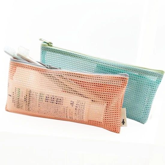 Custom Breathable Toiletry Wash Bag Mesh Makeup Pouch Bag