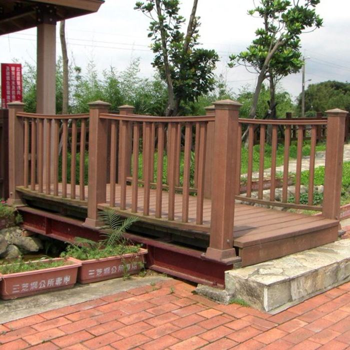 cheap durable wpc railing for balcony /terrace with modern design