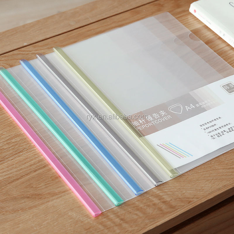 colorful transparent Q pole A4 plastic pp report file cover