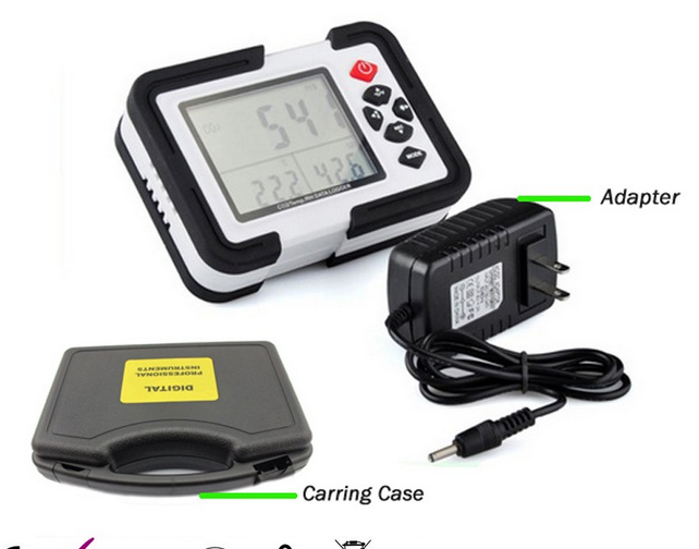 Ht-2000 USB CO2 temperatura y humedad Data Logger, CO2, CO2 controlador