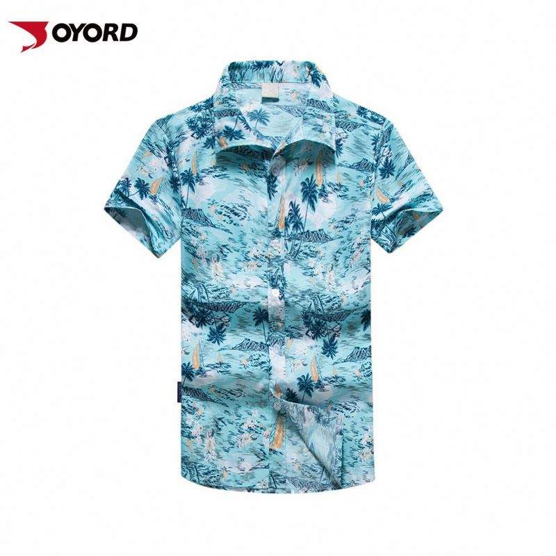 Gender And Adults Age Group Vintage Blouse Hawaiian Short Sleeve Men Beachshirt