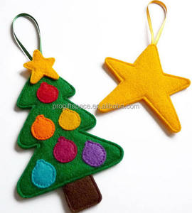 2018 new hotsale wholesale decoration hanging ornaments felt jewelry accessories hand made Christmas tree star made in China
