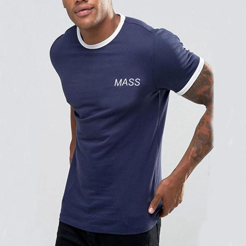 Slim Fit Mens T Shirts Ringer T Shirt Printing Your Logo