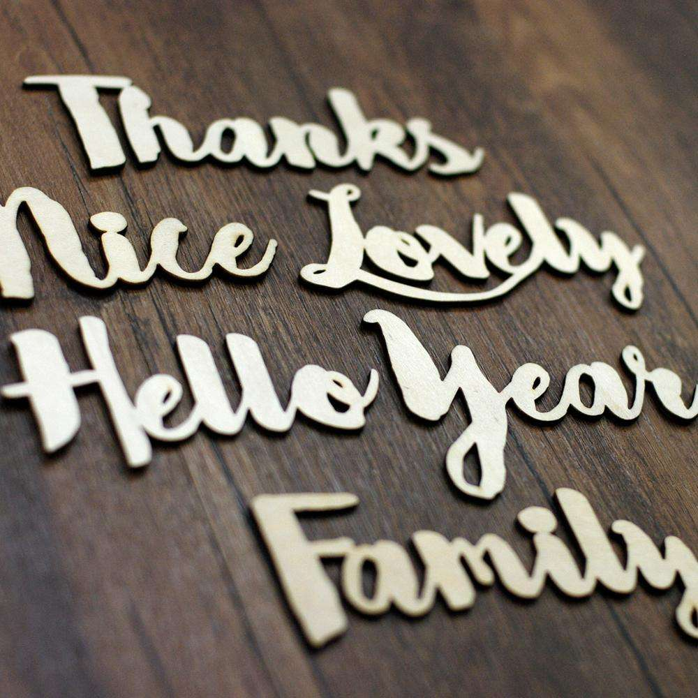 Wholesale custom plywood Unfinished Wooden Word phrase B Scrapbooking Embellishments craft for Kids Games