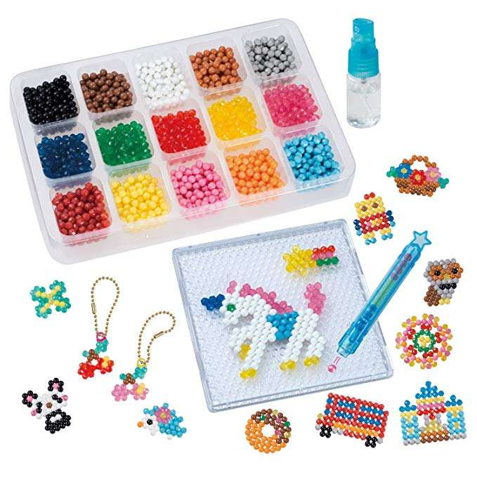 Plastic Fuse Beads Kits 42 Colors Water Spray Perler Beads Art Crafts Toys for Kids