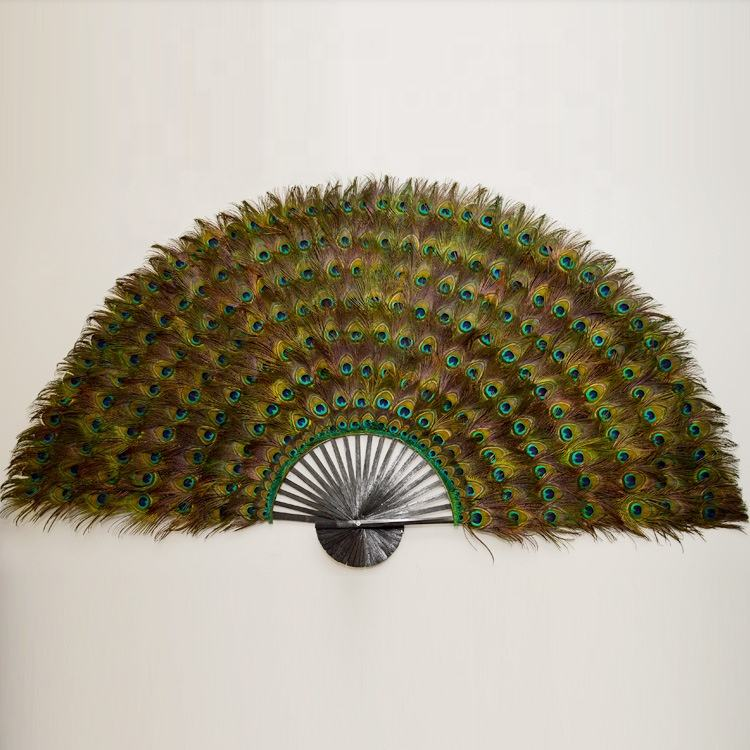 160cm-170cm large decorative natural peacock feather fan for party hang on the wall