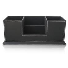 Office Leather Storage Pen Holder Double Penholder