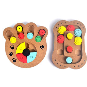 hot selling pet IQ training wooden dog puzzle toy