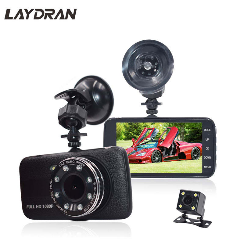 Drive recorderVehicle Full HD 1080P 150Degree Wide View 4inch Display Motion Detect G-Sensor Two Cameras Recording In Car Camera