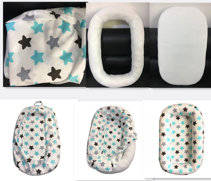 100% Cotton New Born Baby Soft and Comfortable folding baby bed/baby nest