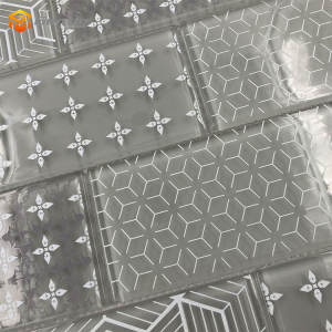 Custom strip thickness 8mm discounted tiles cheap mosaic crystal glass tile backsplash
