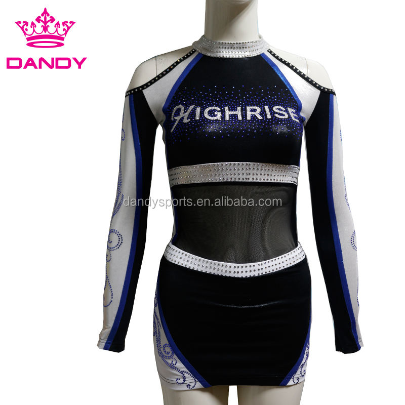 Manufacture factory Custom Youth Girl Cheerleader Uniforms Oem design All Stars Cheerleading Uniforms