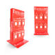 Cell Mobile Phone Case Accessories Counter Top Cardboard Display Stand with Hooks, Cardboard Hook Display Rack