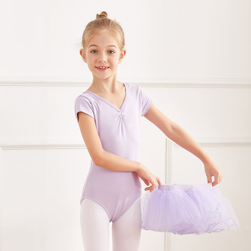 Fluffy Stage Short Sleeve Braces Ballerina Baby Girls Tutu Skirt Leotard