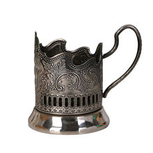 Wholesale high quality cheap zinc alloy antique portable customized tea coffee insulated metal cup holder with handle