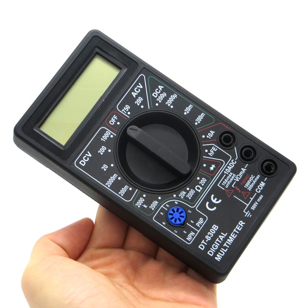 AC/DC Ammeter Voltmeter Ohm Electrical Digital Multimeter