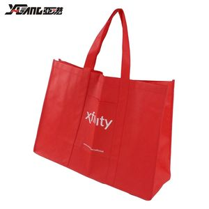 Wholesale reusable eco friendly grocery bag non woven custom shopping bags