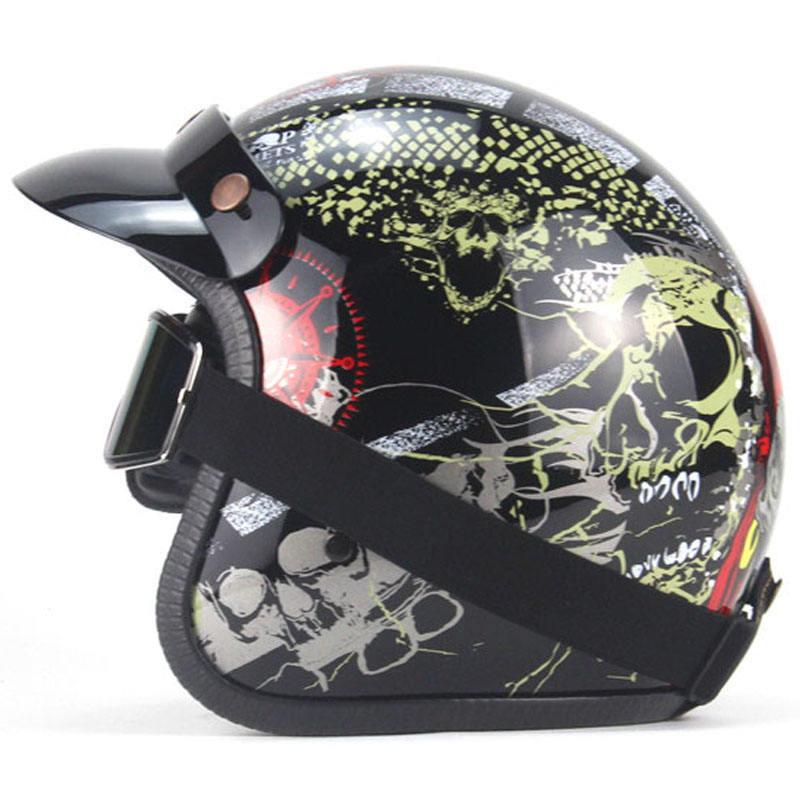 Retro Jet Helmet Motorbike Crash Helmet Vintage Open Face Helmet with removable lining Bike Cruiser Chopper Scooter Half Helmet DOT//ECE Approved for Kids Youth Adults