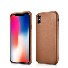 Wholesale Custom Oem Genuine Leather Mobile Casing Shell Covers Cell Cover Case Phone Cases For iPhone X Xs Max For Apple