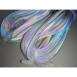 iridescent heat rainbow reflective fabric piping